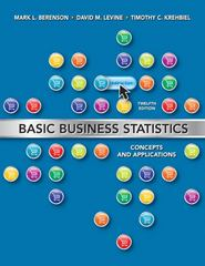 Basic Business Statistics 12th Edition 9780132168380 0132168383