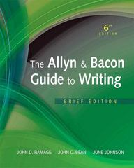 The Allyn & Bacon Guide to Writing, Brief Edition 6th edition 9780205823154 0205823157