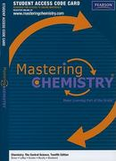 MasteringChemistry -- Standalone Access Card -- for Chemistry:The Central Science 12th edition 9780321705112 0321705114