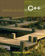 Problem Solving with C++ 8th edition 9780132162739 0132162733
