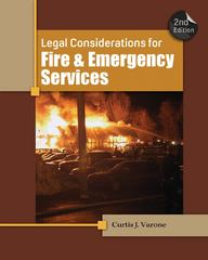 Legal Considerations for Fire and Emergency Services 2nd Edition 9781111308803 1111308802