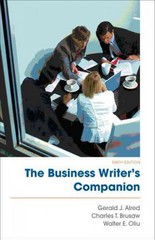 The Business Writer's Companion 6th edition 9780312631321 0312631324