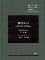 Remedies, Cases and Materials, 8th 8th Edition 9780314264664 0314264663
