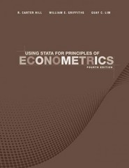Using Stata for Principles of Econometrics 4th edition 9781118032084 111803208X