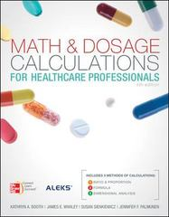 Math and Dosage Calculations for Healthcare Professionals 4th Edition 9780073374697 0073374695