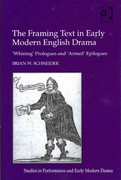 The Framing Text in Early Modern English Drama 1st Edition 9781317031369 1317031369