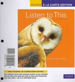 Listen to This, Books a la Carte Plus MyMusicLab -- Access Card Package 2nd edition 9780205203147 0205203140