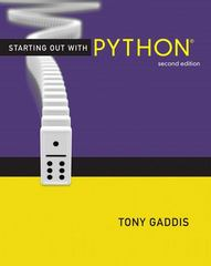 Starting Out with Python 2nd edition 9780132576376 0132576376