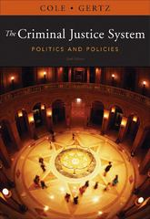 The Criminal Justice System 10th edition 9781111346638 1111346631