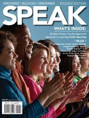 SPEAK (with CourseMate with Interactive Video Activities, Audio Studio Tools, InfoTrac 1-Semester, Speech Builder Express Printed Access Card) 1st edition 9781111830298 1111830290