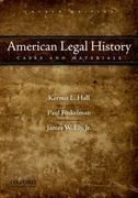 American Legal History 4th Edition 9780195395426 0195395425