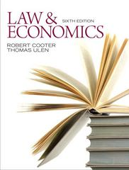 Law and Economics 6th edition 9780132540650 0132540657