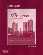 Student Study Guide for Cost Accounting 14th edition 9780132109208 0132109204