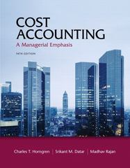 Cost Accounting 14th edition 9780132998413 0132998416