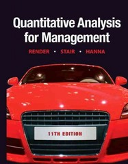 Quantitative Analysis for Management 11th edition 9780132149112 0132149117