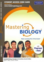 MasteringBiology with Pearson eText -- Standalone Access Card -- for Campbell Biology: Concepts & Connections 7th edition 9780321709257 032170925X