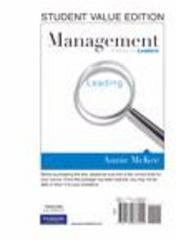 Management: A Focus on Leaders, Student Value Edition 1st edition 9780132666909 0132666901