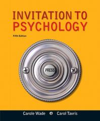 Invitation to Psychology 5th edition 9780205035199 0205035191