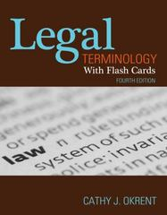 Legal Terminology with Flashcards 4th edition 9781111136796 1111136793