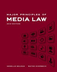 Major Principles of Media Law, 2012 Edition 1st Edition 9780495901952 0495901954