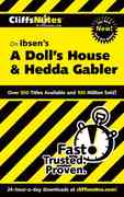 CliffsNotes On Ibsen's A Doll's House and Hedda Gabler 1st edition 9780764544569 076454456X