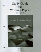 Study Guide & Working Papers to accompany Advanced Accounting 9th edition 9780073344737 0073344737