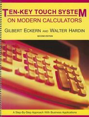 The Ten-Key Touch System on Electronic Calculator 2nd Edition 9780898632194 0898632196