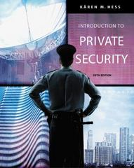 Introduction to Private Security 5th edition 9781111794835 1111794839