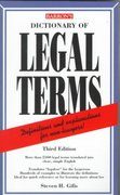 Dictionary of Legal Terms 3rd Edition 9780764102868 0764102869