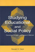 Studying Educational and Social Policy 1st edition 9780805844610 0805844619