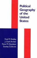 Political Geography of the United States 1st Edition 9781572300484 1572300485