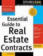 Essential Guide to Real Estate Contracts 2nd edition 9781572483460 1572483466