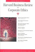 Harvard Business Review on Corporate Ethics 0 9781591392736 159139273X