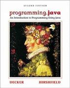 programming.java: An Introduction to Programming Using Java, Second Edition 2nd edition 9780534371098 0534371094