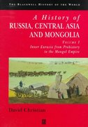 A History of Russia, Central Asia and Mongolia, Volume I 1st edition 9780631208143 0631208143