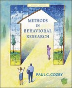 Methods in Behavioral Research with Powerweb 8th Edition 9780072942750 0072942754