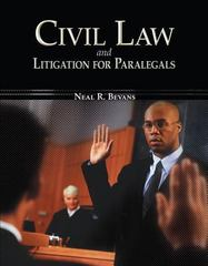 Civil Law & Litigation for Paralegals 1st edition 9780073524610 0073524611
