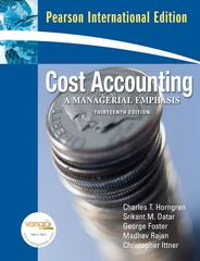 Cost Accounting 13th edition 9780131355583 0131355589