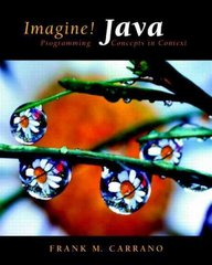 Imagine! Java 1st edition 9780131471061 0131471066
