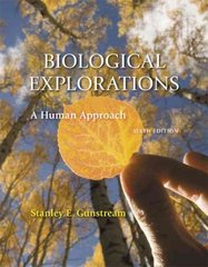Biological Explorations 6th edition 9780131560727 0131560727