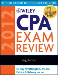 Wiley CPA Exam Review 2012, Regulation 9th edition 9780470923931 0470923938