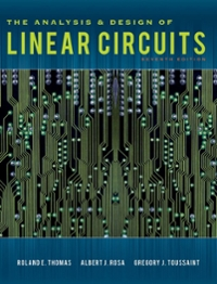The Analysis and Design of Linear Circuits 7th edition 9781118065587 1118065581