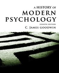 A History of Modern Psychology 4th Edition 9781118011454 1118011457