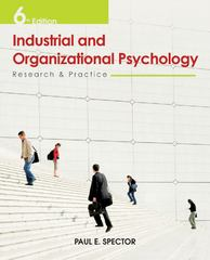 Industrial and Organizational Psychology 6th edition 9780470949764 0470949767