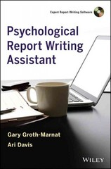 Psychological Report Writing Assistant 1st Edition 9780470888995 0470888997