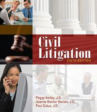 Civil Litigation 6th edition 9781111312220 1111312222