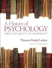 A History of Psychology 7th edition 9780132438490 0132438496