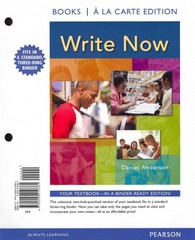 Write Now, Books a la Carte Edition 1st edition 9780205210381 0205210384