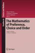 The Mathematics of Preference, Choice and Order 0 9783642098000 3642098002