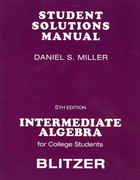 Student Solutions Manual for Intermediate Algebra for College Students 5th edition 9780136008699 0136008690